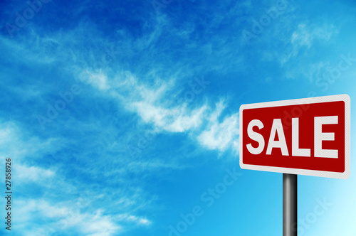 Photo realistic 'sale' sign, with space for your text