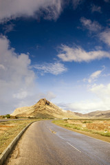 Scenic view of track road on Socotra
