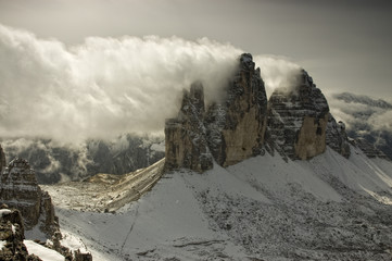 Landscape Dolomites of northern Italy - Tre Cime
