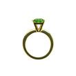 Isolated emerald ring