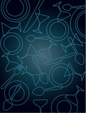 bar and restaurant pattern template poster
