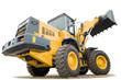 wheel loader excavator isolated