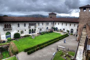 Castelvecchio Courtyard, Verona, Italy.