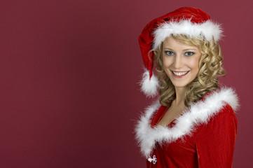 Sexy Frau in Santa Klaus  Bekleidung4