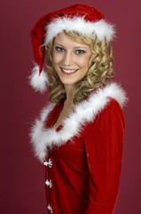 Sexy Frau in Santa Klaus  Bekleidung3