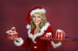 Wieviele Geschenke willst du?  Santa Claus