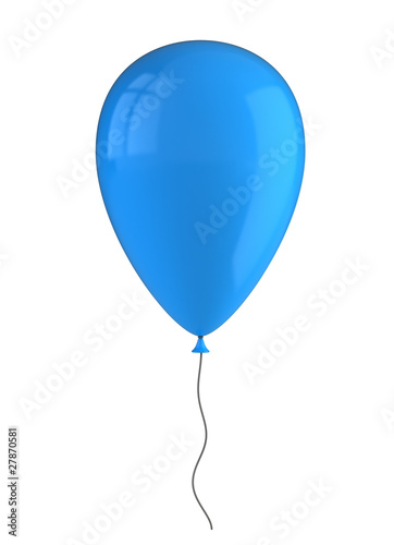 Inflatable balloon isolated on white
