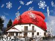 Haus mit roter Mütze für Energiepass