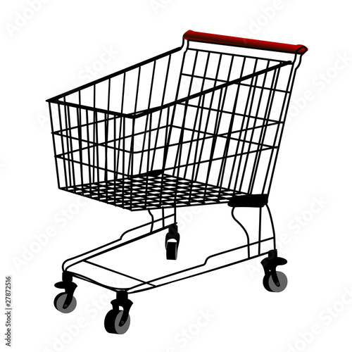 Shopping trolley silhouette