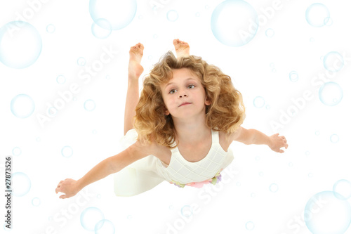 Girl Child Swimming