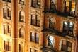 New York City Apartment Building Close up