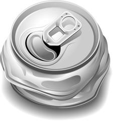 Lattina Schiacciata Riciclaggio-Crushed Can for Recycle-Vector