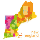 new england vector map