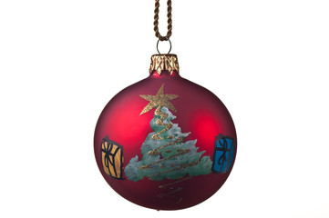 Christmas bulb with a tree