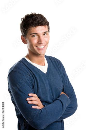 Happy smiling latin man