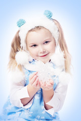girl with snowflake