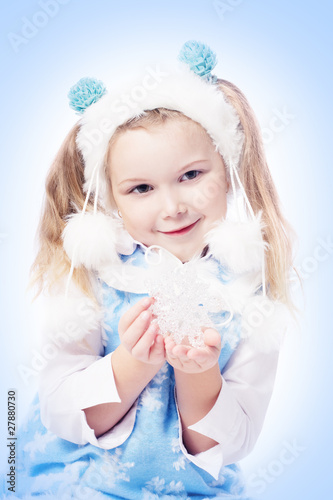 girl with snowflake