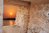 Sunset from the eastern tower of Arad fort, bahrain