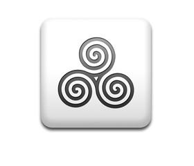 Boton cuadrado blanco simbolo celta