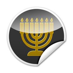 Pegatina simbolo judio MENORAH con reborde