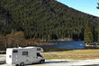 RV Parked At The Lake