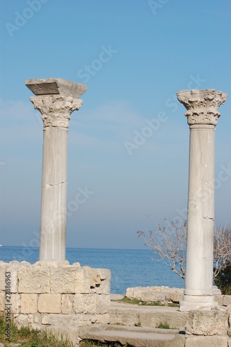Ruins of ancient Greek colony Khersones.Sevastopol.Crimea