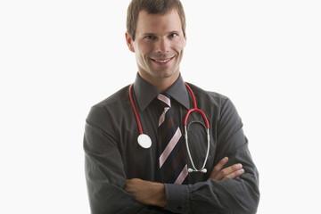 Portrait of a doctor wearing stethoscope