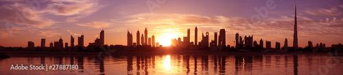 Zachód słońca w Cityscape Dubaj