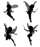Fairy silhouette set