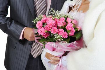 Married with a bouquet