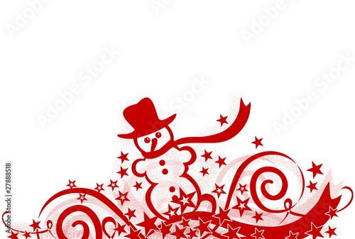 weihnachtliche dekoration mit schneemann rot stockfotos. Black Bedroom Furniture Sets. Home Design Ideas