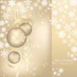 elegant christmas background with baubles and snowflakes
