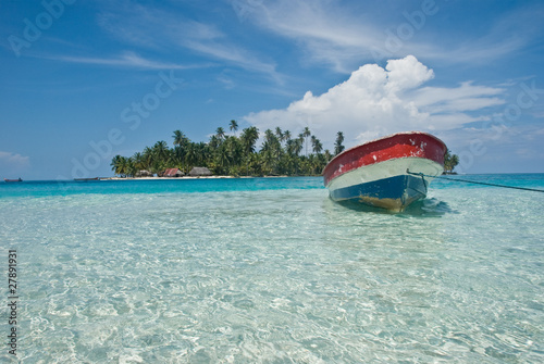 Leinwanddruck Bild Isla, Kuna Yala, San Blas, Panama.