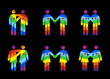 Gay Couples Pictograms poster