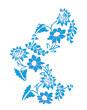 Floral botanic design vector