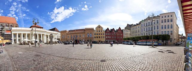 Schwerin Marktplatz panorama