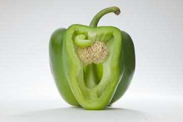Grüne Paprika Freisteller