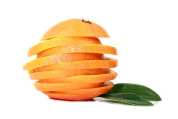 Orange cuted on slices