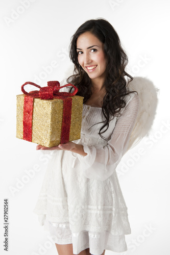 Christmas Angel with gift