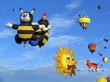 Leinwandbild Motiv Hot air balloon show