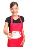 Fototapety Waitress serving coffee
