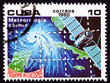 Cuban Stamp Weather Satellite Meteorology Cuba Hurricane Ocean