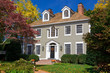 Suburban Single Family House Georgian Colonial Revival Autumn