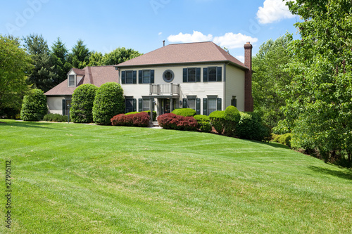 Suburban USA Single Family House Hillside French Provincial