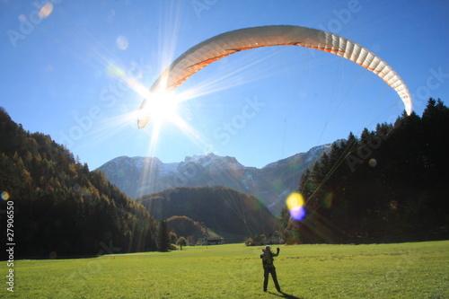 Fotobehang Luchtsport Gleitschirm