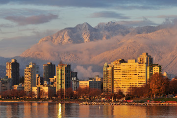 vancouver Golden Sunset