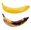 Real banana and artificial banana