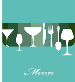 bar and restaurant menu template poster