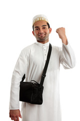 Ethnic man victory fist success
