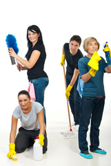 Team of people cleaning your house